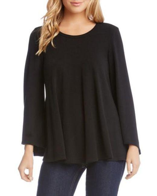 Karen Kane | Black Bell Sleeve Swing Sweater | Lyst