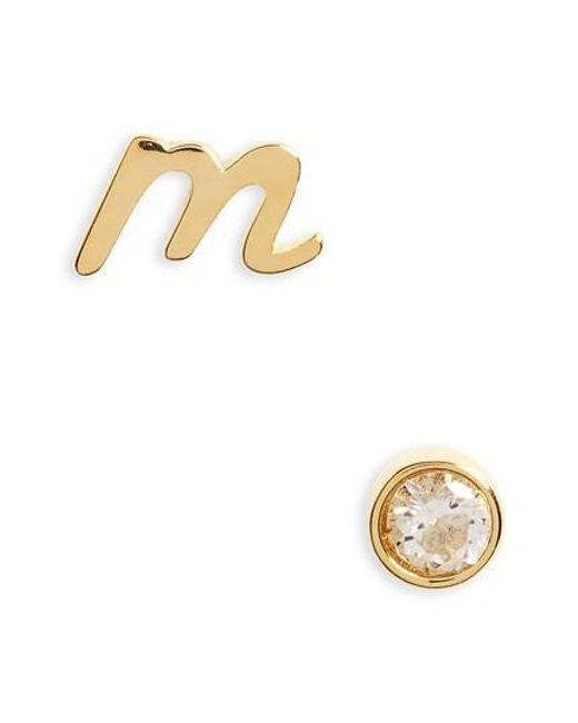 Kate Spade | Metallic One In A Million Mismatched Stud Earrings | Lyst