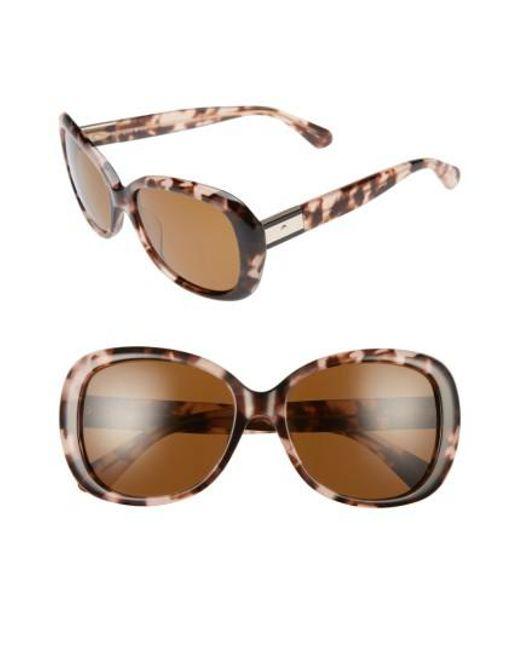 Kate Spade | Brown Judyann 50mm Sunglasses | Lyst