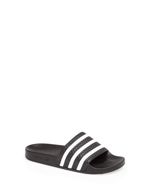 Adidas Originals   Black 'adilette' Slide Sandal   Lyst