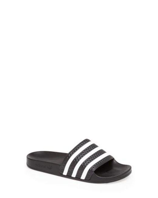Adidas Originals | Black 'adilette' Slide Sandal | Lyst