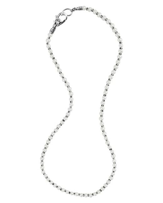 Lagos | Metallic 'luna' Pearl Necklace | Lyst
