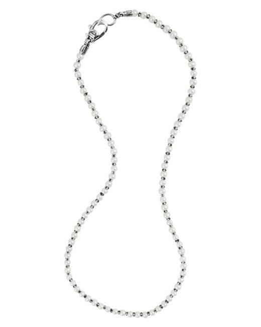 Lagos | Metallic 'luna' Pearl Necklace | Lyst