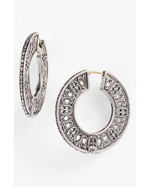 Konstantino | Metallic 'classics' Hoop Earrings | Lyst