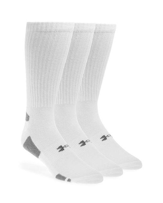 Under Armour | White Heatgear 'trainer' Crew Socks for Men | Lyst