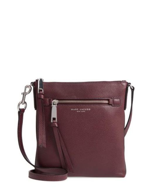 Marc Jacobs | Recruit North/south Leather Crossbody Bag - Purple | Lyst