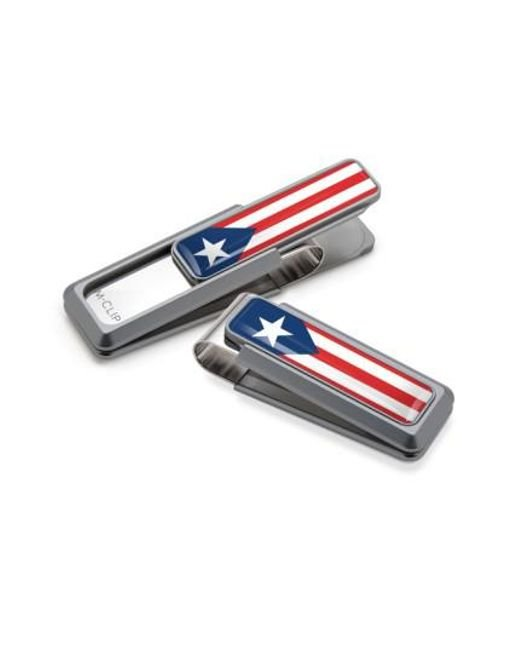 M-clip - Natural M-clip Puerto Rican Flag Money Clip - Metallic for Men - Lyst