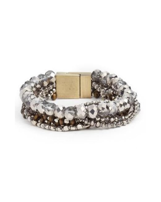 Serefina | Metallic Layered Statement Bracelet | Lyst