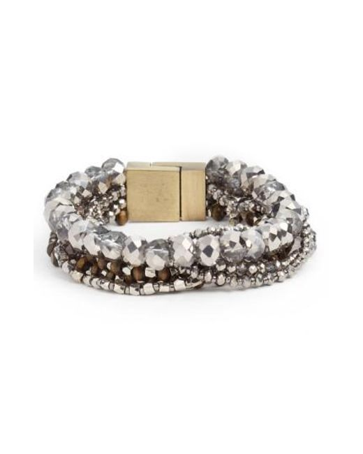 Serefina - Metallic Layered Statement Bracelet - Lyst