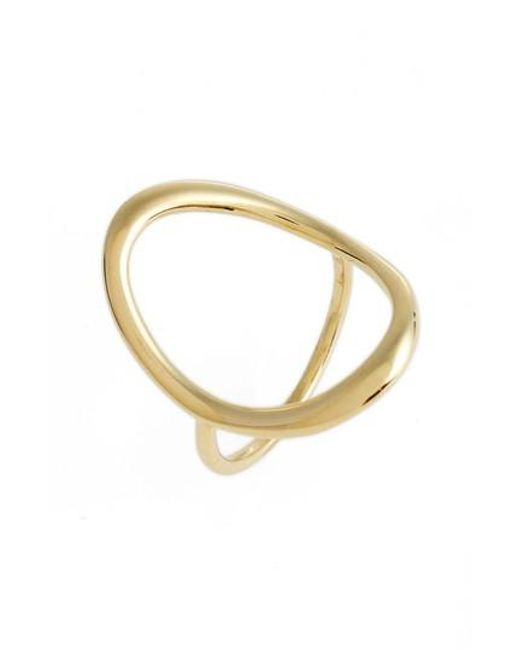 Bony Levy - Metallic Stackable Open Circle Ring (nordstrom Exclusive) - Lyst