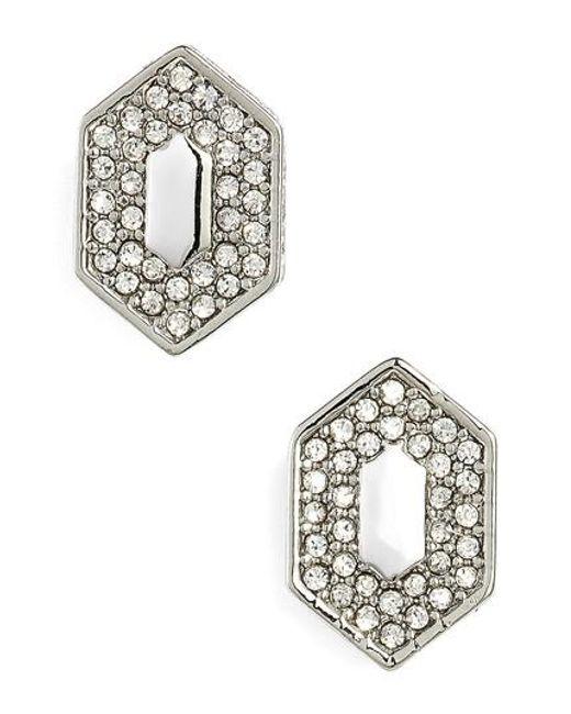 Vince Camuto | Metallic Pave Crystal Stud Earrings | Lyst