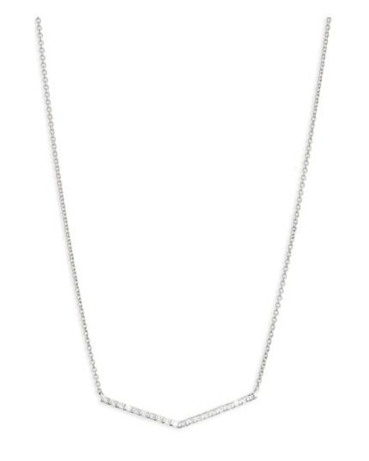 Bony Levy | Metallic Geo Diamond Pendant Necklace (nordstrom Exclusive) | Lyst
