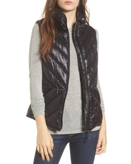 Marc New York | Black Chevron Quilt Puffer Vest | Lyst