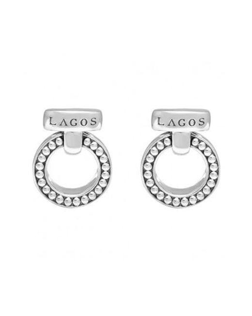 Lagos - Metallic 'enso' Caviar(tm) Clip Earrings - Lyst