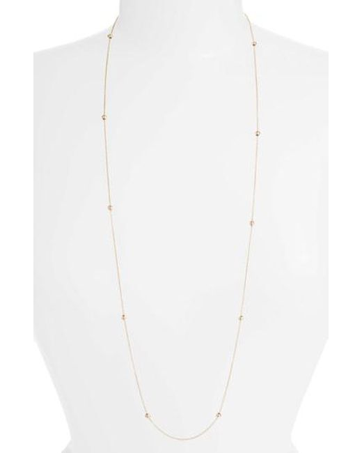 Zoe Chicco - White Adjustable Bead Necklace - Lyst