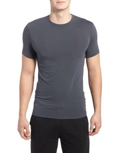 CALVIN KLEIN 205W39NYC - Gray 'u5551' Modal Blend Crewneck T-shirt for Men - Lyst