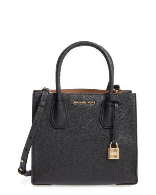 MICHAEL Michael Kors   Black Mercer Leather Crossbody Bag   Lyst