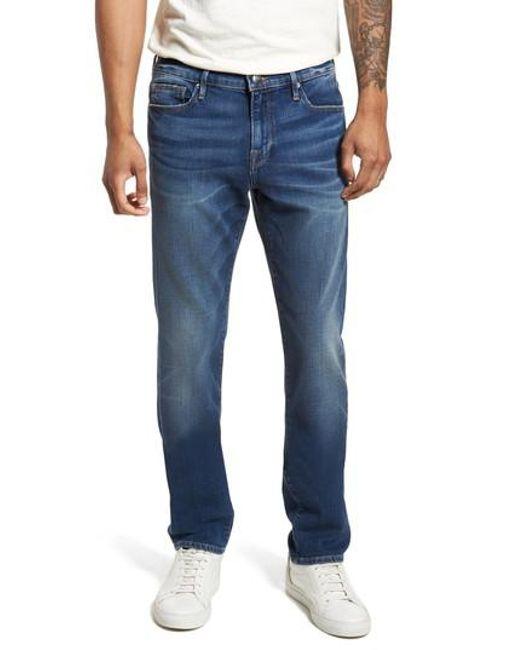 FRAME - Blue L'homme Skinny Fit Jeans for Men - Lyst