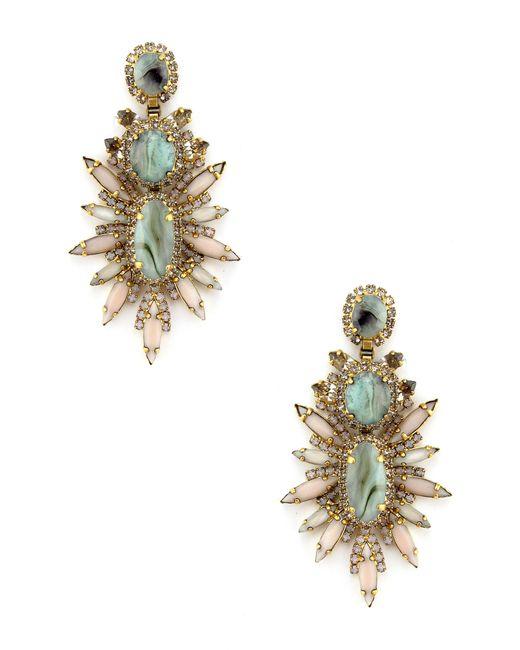 Elizabeth Cole - Metallic Carmella Stud Earrings - Lyst