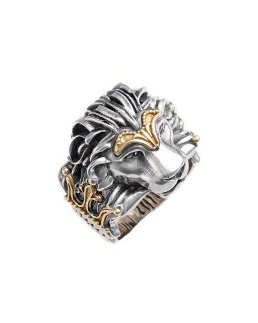 Konstantino   Metallic Carved Lion Ring   Lyst