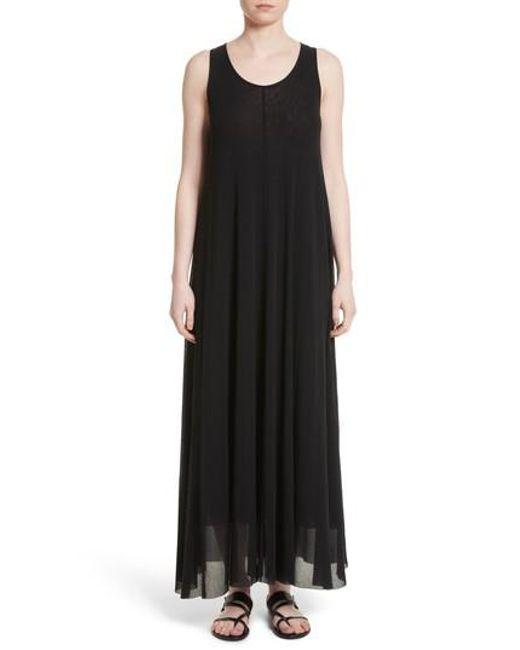 Fuzzi | Black Belted Tulle Maxi Dress | Lyst