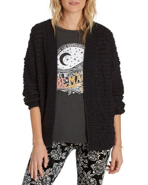 Billabong | Black Boucle Cardigan | Lyst