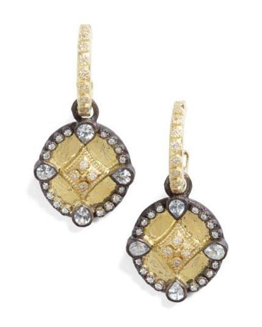 Armenta - Metallic Old World Shield Diamond Drop Earrings - Lyst