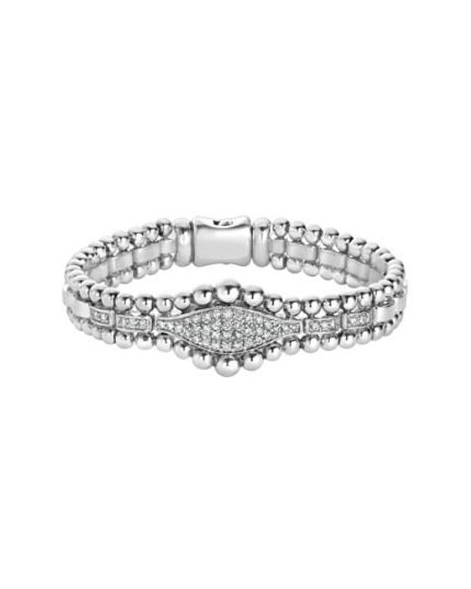 Lagos | Metallic Caviar Spark Diamond Marquise Link Bracelet | Lyst