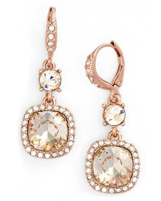 Givenchy | Pink 'legacy' Drop Earrings | Lyst