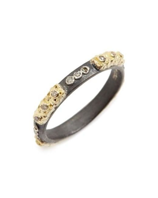 Armenta | Metallic Old World Carved Diamond Stack Ring | Lyst