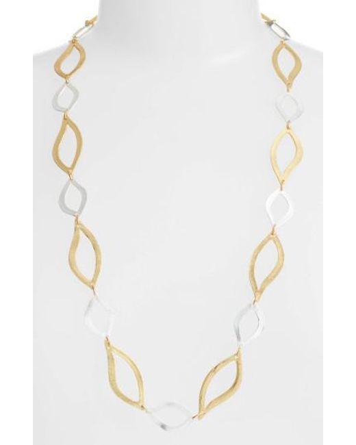 Karine Sultan   Metallic Long Link Necklace   Lyst