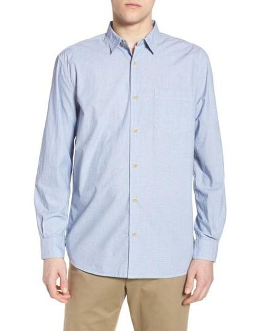 French Connection - Blue Regular Fit Solid Sport Shirt for Men - Lyst