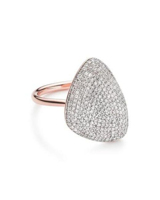 Monica Vinader | Metallic Nura Diamond Teardrop Ring | Lyst