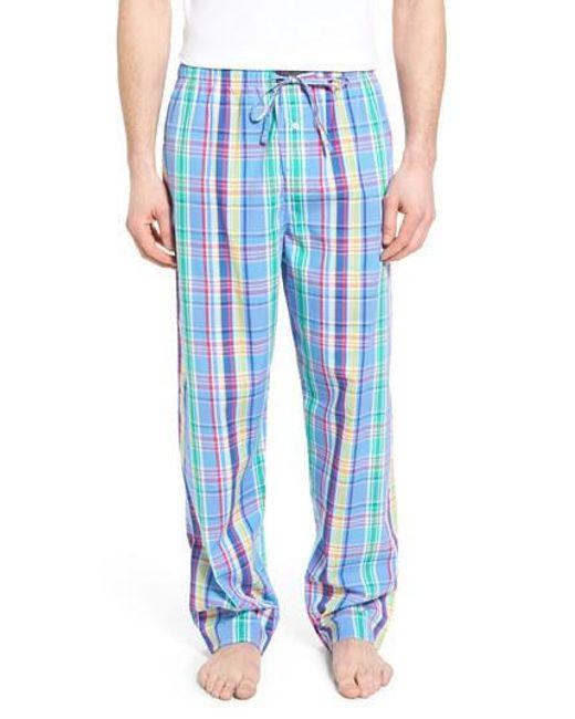 Polo Ralph Lauren   Blue Cotton Lounge Pants for Men   Lyst