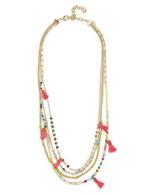 BaubleBar - Metallic Rida Layered Chain Necklace - Lyst