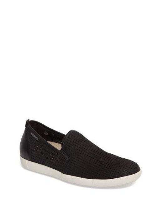 Mephisto | Black 'ulrich' Perforated Leather Slip-on for Men | Lyst