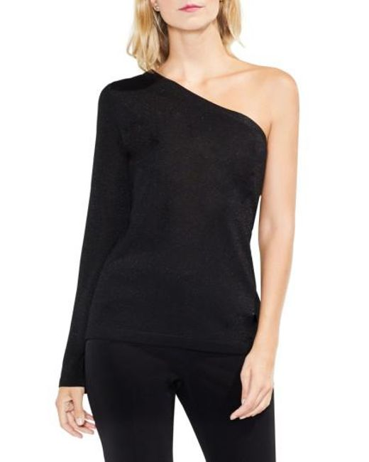 Vince Camuto | Black One-shoulder Bell Sleeve Sweater | Lyst