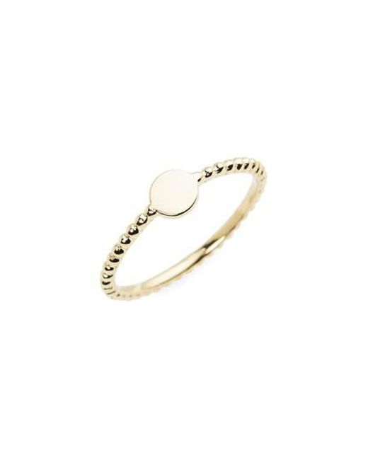 Bony Levy | Yellow 14k Gold Circle Ring (nordstrom Exclusive) | Lyst