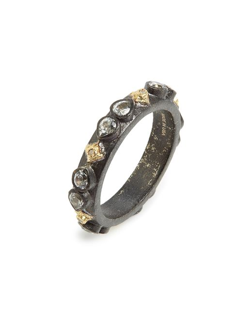Armenta - Metallic Old World Sapphire Blackened Stack Ring - Lyst