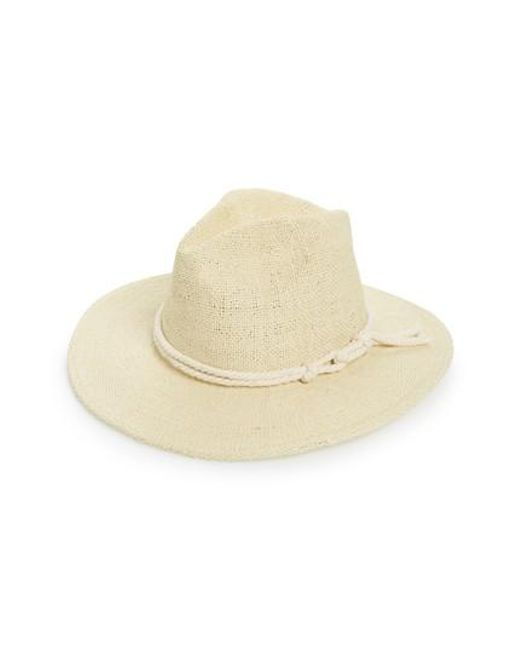 Brixton - Natural Ellington Straw Fedora - Lyst