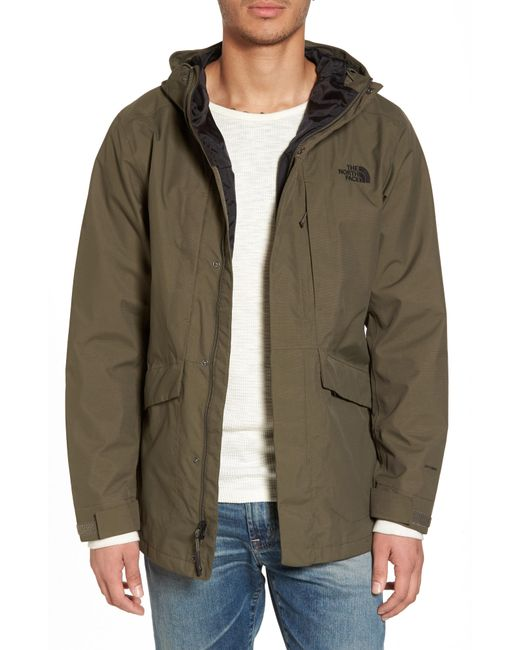 The North Face - Green El Misti Trench Ii Hooded Jacket for Men - Lyst