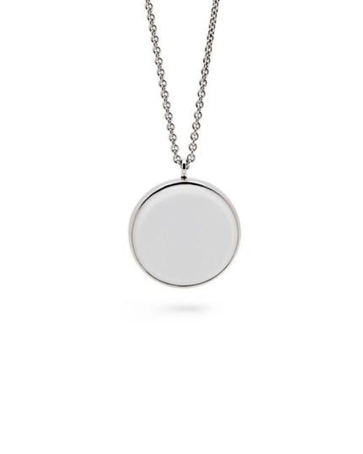 Tom Wood - Metallic White Agate Medallion Necklace - Lyst