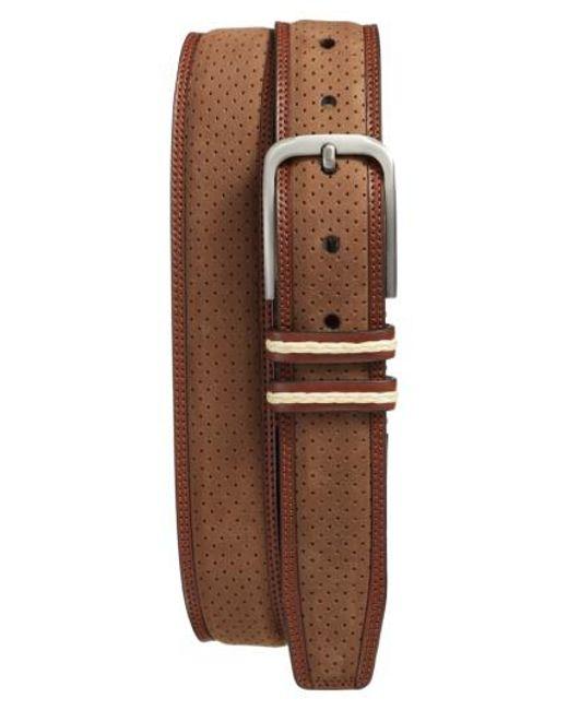 Mezlan | Brown Nobuk Leather Belt for Men | Lyst