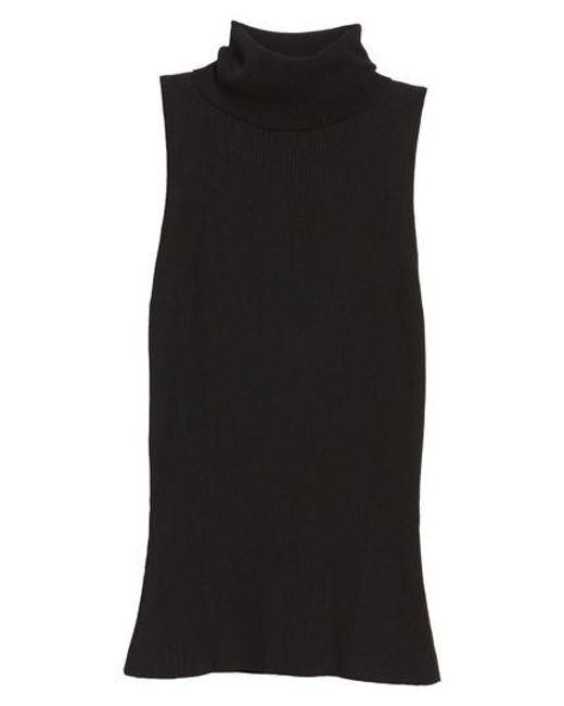Anne Klein - Black Sleeveless Turtleneck Top - Lyst