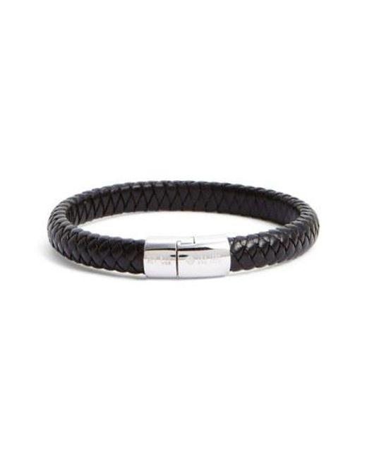 Tateossian - Black 'cobra Classic' Bracelet for Men - Lyst