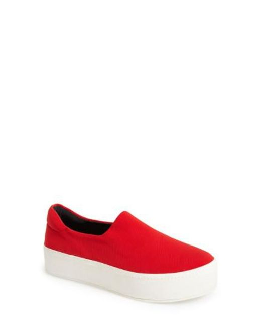 Opening Ceremony | Red 'grunge' Slip-on Platform Sneaker | Lyst