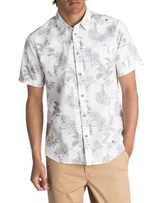 Quiksilver | White Waterman Collection Agavy Print Sport Shirt for Men | Lyst