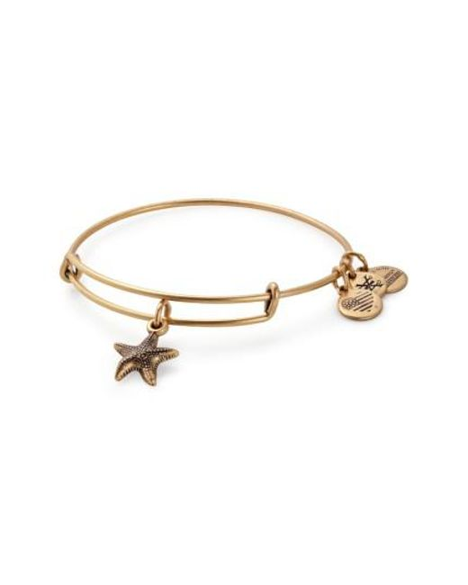 ALEX AND ANI | Metallic Starfish Adjustable Wire Bangle | Lyst