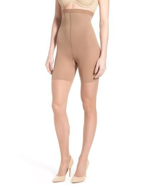 Spanx   Orange Spanx Luxe High Waist Shaping Pantyhose   Lyst