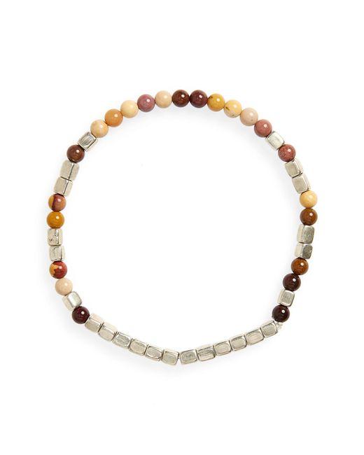 George Frost - Metallic Mookaite Bead Bracelet for Men - Lyst